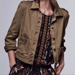Anthropologie Hei Hei Brown Crop Utility Jacket